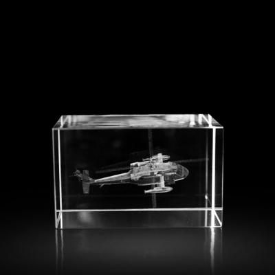 3d kristal Helikopter