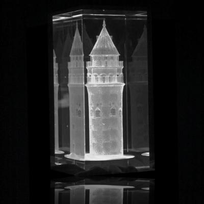 3d Kristal Galata Kulesi