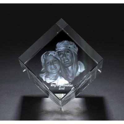 3d Kristal Fotograf 7cmx7cm Çapraz