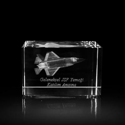 3d Kristal F16 Uçak
