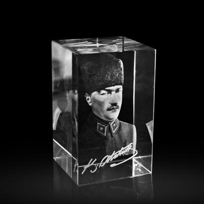 3d Kristal Atatürk Kalpaklı
