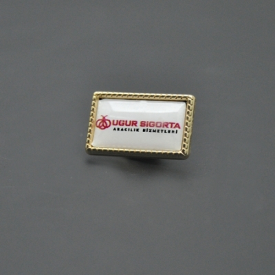 Dikdörtgen Damla Rozet Altın Desenli 10mmx20mm
