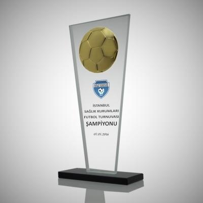 Figürlü Futbol Kristal Plaket