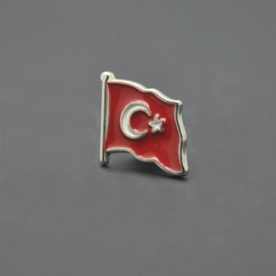Gümüş Türk Bayraklı Rozet
