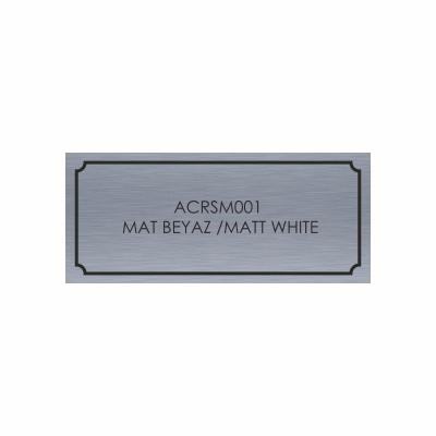 Metal Alüminyum Etiket 01