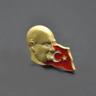 Atatürk Türk Bayraklı Rozeti