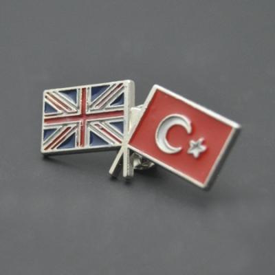 Türkiye-İngiltere Bayraklı Rozet