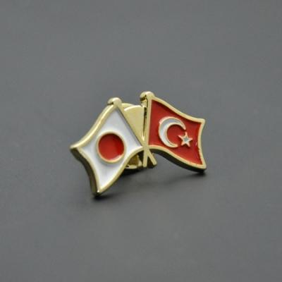Türk Japon Bayrağı Rozeti