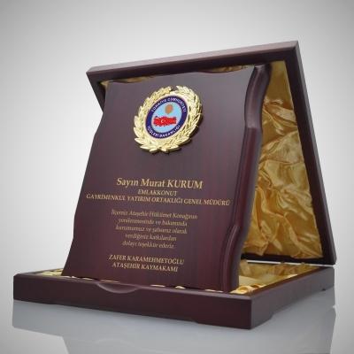 Vip Ahşap Plaket 2530-03